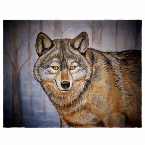 Betsy Drake PM315 14 x 18 in. Gray Wolf Place Mat - Set of 4 Perspective: front