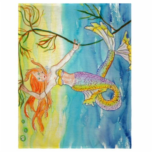 Betsy Drake PM373 14 x 18 in. Betsys Mermaid Place Mat - Set of 4 Perspective: front