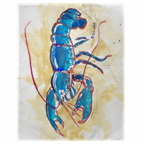 Betsy Drake PM381 14 x 18 in. Blue Lobster Place Mat - Set of 4 Perspective: front