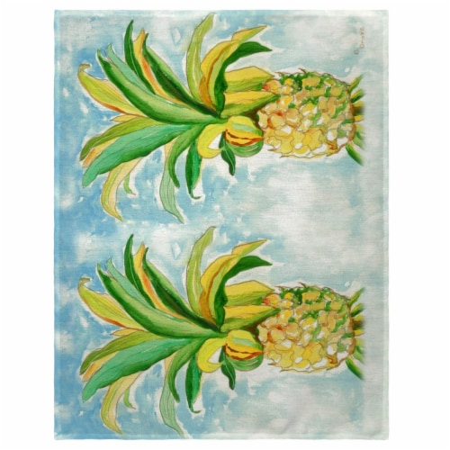 Betsy Drake PM400 14 x 18 in. Pineapple Place Mat - Set of 4 Perspective: front