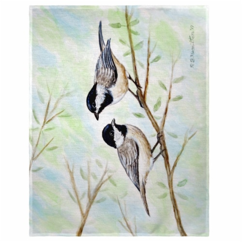 Betsy Drake PM638 14 x 18 in. Dicks Chickadee Place Mat - Set of 4 Perspective: front