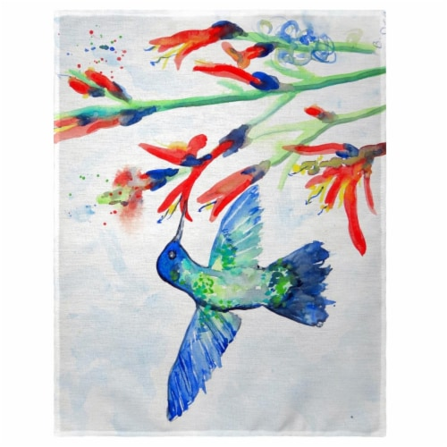 Betsy Drake PM644 14 x 18 in. Hummingbird & Fire Plant Place Mat - Set of 4 Perspective: front