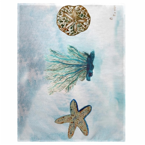 Betsy Drake PM703 14 x 18 in. Sea Life Place Mat - Set of 4 Perspective: front