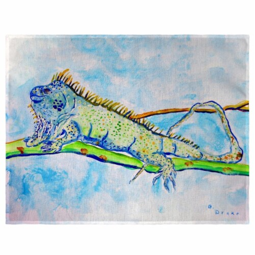 Betsy Drake PM770 14 x 18 in. Iguana Place Mat - Set of 4 Perspective: front