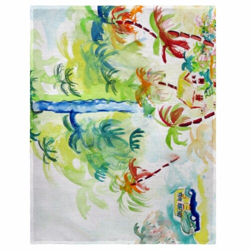 Betsy Drake PM821 14 x 18 in. Colorful Palms Place Mat - Set of 4 Perspective: front