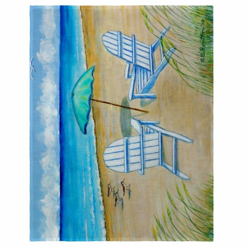 Betsy Drake PM997 14 x 18 in. Adirondack Chairs Place Mat - Set of 4 Perspective: front