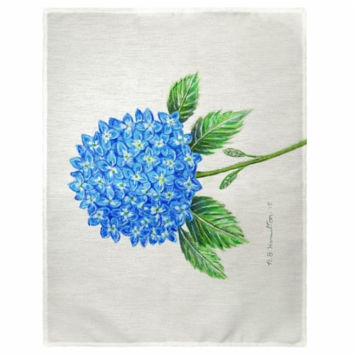 Betsy Drake PM988 14 x 18 in. Dicks Hydrangea Place Mat - Set of 4 Perspective: front