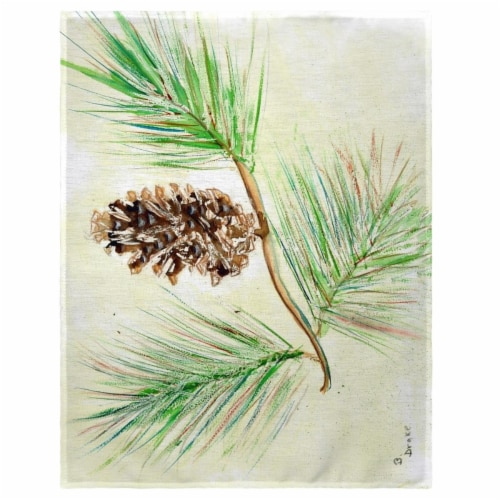 Betsy Drake PM161 14 x 18 in. Betsys Pine Cone Place Mat - Set of 4 Perspective: front