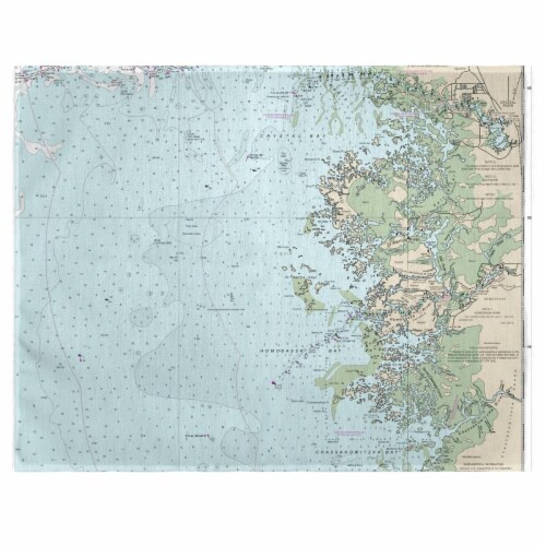Betsy Drake PM11409CR Crystal River, FL Nautical Map Place Mat, 14 x 18 in. - Set of 4 Perspective: front