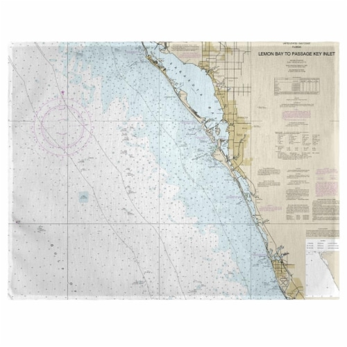 Betsy Drake PM11424V Venice, FL Nautical Map Place Mat, 14 x 18 in. - Set of 4 Perspective: front