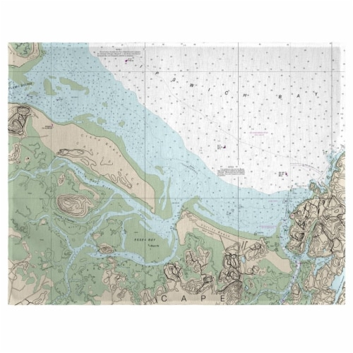 Betsy Drake PM13279EX 14 x 18 in. Essex Bay & Essex River, MA Nautical Map Place Mat - Set of Perspective: front