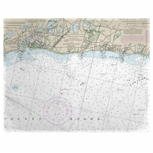 Betsy Drake PM13229HP 14 x 18 in. Harwich Port, MA Nautical Map Place Mat - Set of 4 Perspective: front