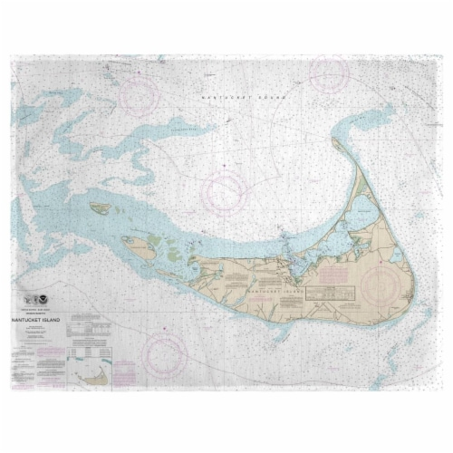 Betsy Drake PM1324NI 14 x 18 in. Nantucket Island, MA Nautical Map Place Mat - Set of 4 Perspective: front