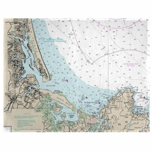 Betsy Drake PM13278PI 14 x 18 in. Plum Island Sound, MA Nautical Map Place Mat - Set of 4 Perspective: front
