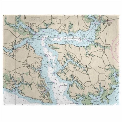 Betsy Drake PM11548PR 14 x 18 in. Pungo River, NC Nautical Map Place Mat - Set of 4 Perspective: front