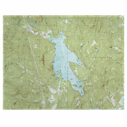 Betsy Drake PM794 14 x 18 in. Newfound Lake, NH Nautical Map Place Mat - Set of 4 Perspective: front