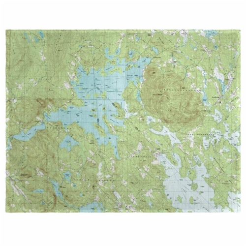 Betsy Drake PM969 14 x 18 in. Squam Lake, NH Nautical Map Place Mat - Set of 4 Perspective: front
