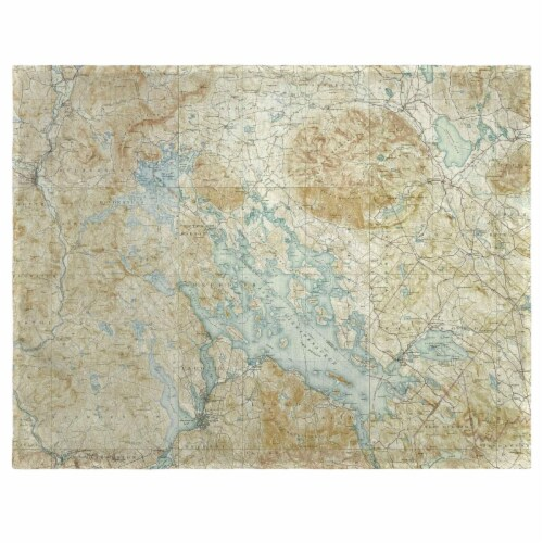 Betsy Drake PM968 14 x 18 in. Winnipesaukee, NH Nautical Map Place Mat - Set of 4 Perspective: front