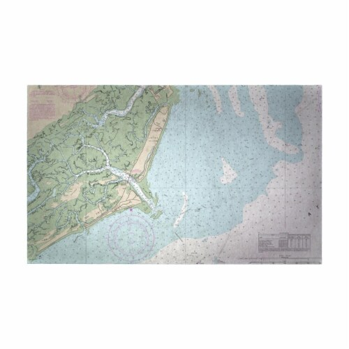 Betsy Drake DM11517G 30 x 50 in. Fripp Island, SC Nautical Map Large Door Mat Perspective: front