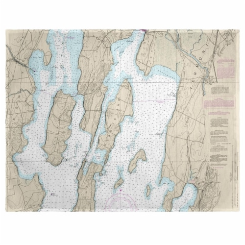 Betsy Drake PM14781 14 x 18 in. North Hero Island, VT Nautical Map Place Mat - Set of 4 Perspective: front