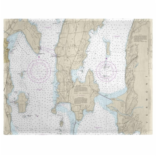 Betsy Drake PM14782 14 x 18 in. South Hero Island, VT Nautical Map Place Mat - Set of 4 Perspective: front