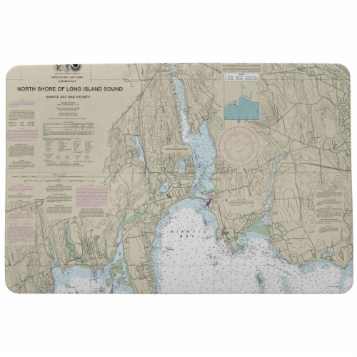 Betsy Drake DM13211NB 18 x 26 in. North Shore Long Island to Niantic Bay, CT Nautical Map Doo Perspective: front