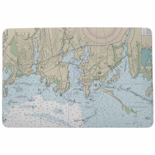 Betsy Drake DM13214ST 18 x 26 in. StoninKTon Harbor, CT Nautical Map Door Mat Perspective: front