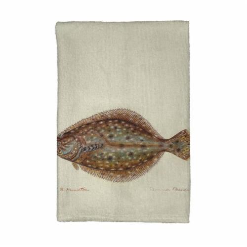 Betsy Drake KT014 Flounder Kitchen Towel Perspective: front