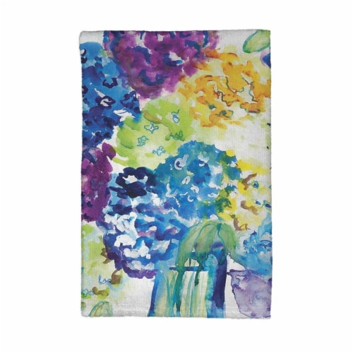 Betsy Drake KT022 Hydrangea Kitchen Towel Perspective: front