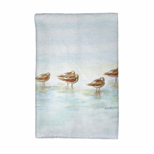 Betsy Drake KT024 Avocets Kitchen Towel Perspective: front