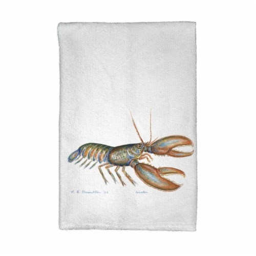 Betsy Drake KT081 Lobster Kitchen Towel Perspective: front