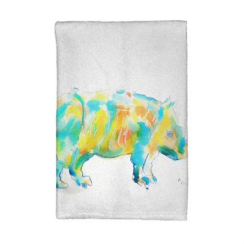 Betsy Drake KT129 Rhino Kitchen Towel Perspective: front