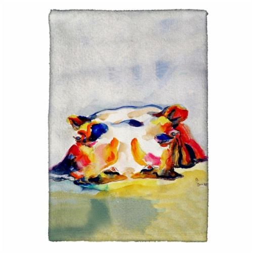 Betsy Drake KT157 Hippo Kitchen Towel Perspective: front