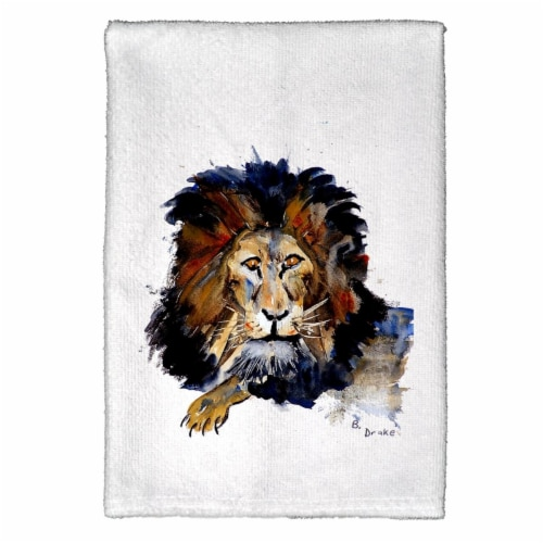 Betsy Drake KT168 Lion Kitchen Towel Perspective: front