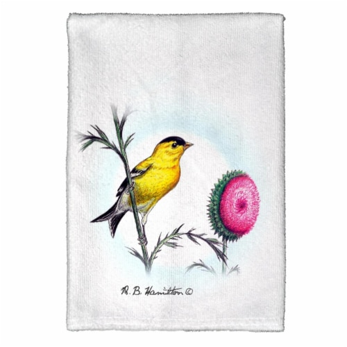 Betsy Drake KT244 Goldfinch Kitchen Towel Perspective: front