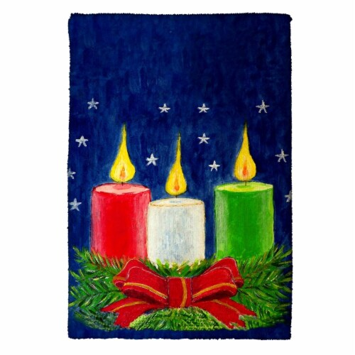 Betsy Drake Christmas Candles Kitchen Towel Perspective: front