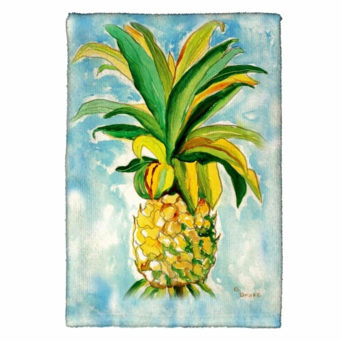 Betsy Drake KT400 Pineapple Kitchen Towel Perspective: front