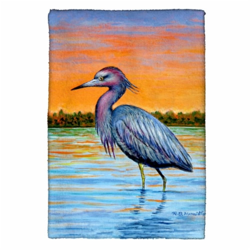 Betsy Drake KT493 Heron & Sunset Kitchen Towel Perspective: front