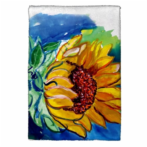 Betsy Drake KT544 Windy Sunflower Kitchen Towel Perspective: front
