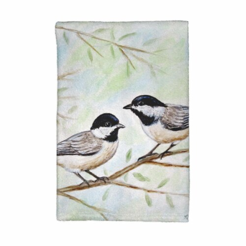 Betsy Drake KT638 Dicks Chickadees Kitchen Towel Perspective: front
