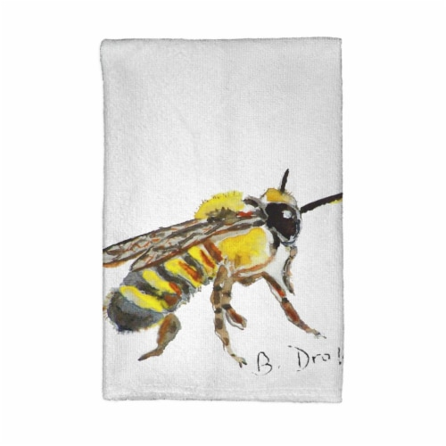 Betsy Drake KT731 Bee Kitchen Towel Perspective: front