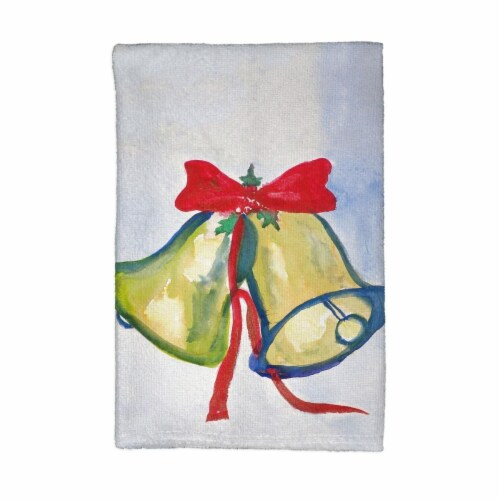 Betsy Drake Christmas Bells Kitchen Towel Perspective: front