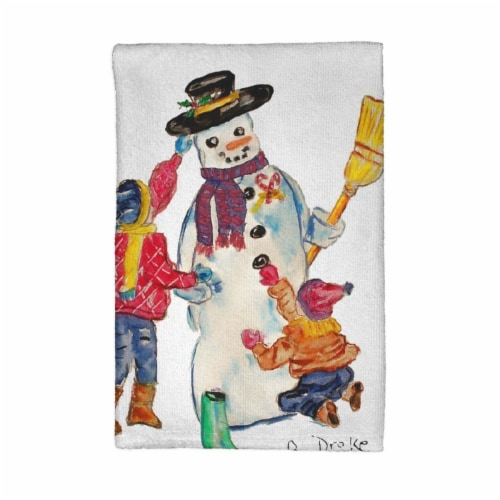 Betsy Drake Snowman Kitchen Towel Perspective: front