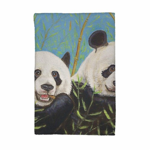 Betsy Drake KT927 Pandas Kitchen Towel Perspective: front