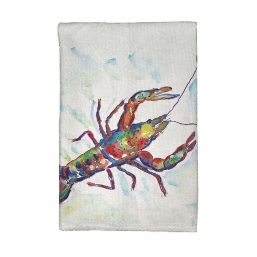 Betsy Drake KT986A Crayfish Kitchen Towel Perspective: front