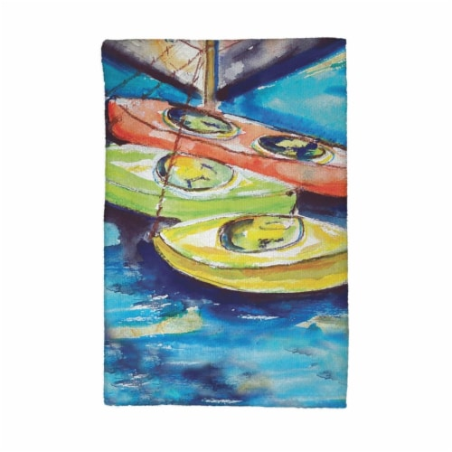 Betsy Drake KT992 Kayaks Kitchen Towel Perspective: front