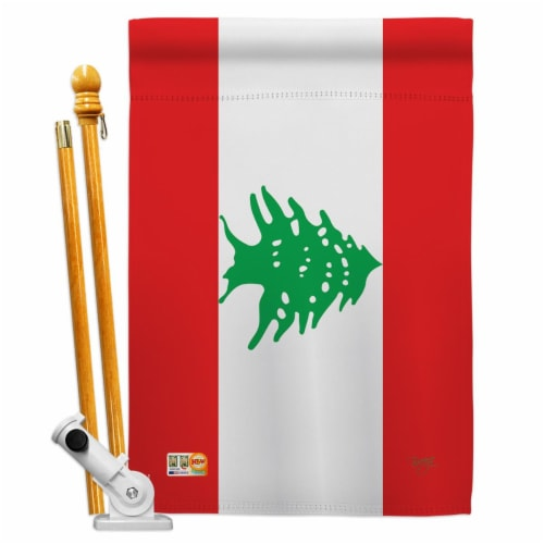 Breeze Decor BD-CY-HS-108243-IP-BO-D-US15-BD 28 x 40 in. Lebanon Flags of the World Nationali Perspective: front