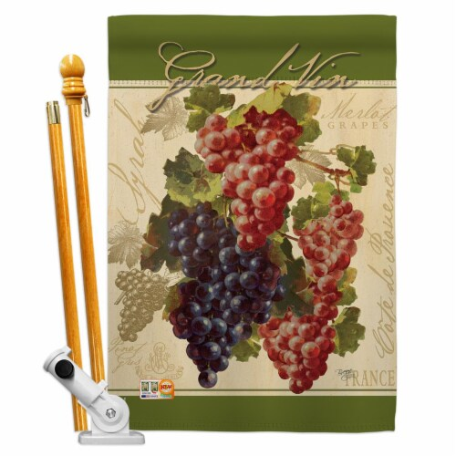 Breeze Decor BD-FT-HS-117041-IP-BO-D-US17-AM 28 x 40 in. Red & Purple Grapes Food Fruits Impr Perspective: front