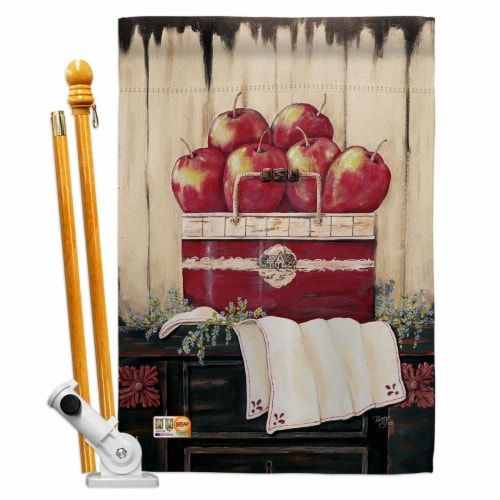 Breeze Decor BD-FT-HS-117046-IP-BO-D-US18-SB 28 x 40 in. Ruby Red Country Apple Food Fruits I Perspective: front