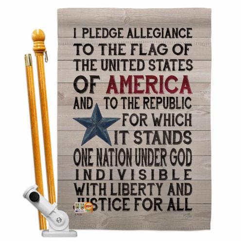 Breeze Decor BD-PA-HS-111085-IP-BO-D-US18-SB 28 x 40 in. Pledge of Allegiance Americana Patri Perspective: front
